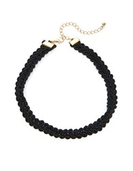 Design Lab Lord And Taylor Lace Choker Necklace Black