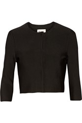 Issa Cropped Stretch Knit Jacket Black