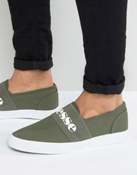 Ellesse Canvas Plimsolls With Strap Green