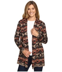 Woolrich Dew Berry Hooded Fairisle Cardigan Ii Heartwood Multi Women's Sweater