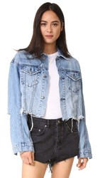 Ksubi Daggerz Crop Jean Jacket Old Blue