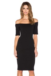 T Bags Losangeles Off The Shoulder Bodycon Dress Black