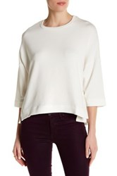 Heather By Bordeaux Boxy Pullover White