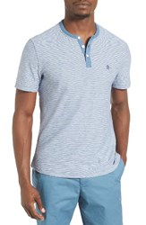 Original Penguin Men's Feeder Stripe Henley T Shirt