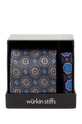 Wurkin Stiffs Fashion Tie And Pocket Square Set Black