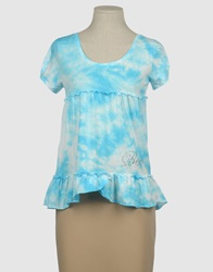 Bea Yuk Mui Bea Short Sleeve T Shirts Sky Blue