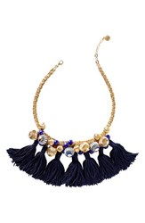 Lilly Pulitzerr Women's Pulitzer Fringe Collar Necklace True Navy