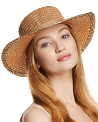 Aqua Metallic Trim Boater Hat 100 Exclusive Natural