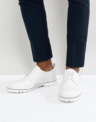 Zign Leather Lace Up Shoes In White