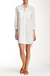 Mother The Cadet Shirt Dress White
