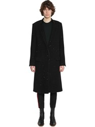 Haider Ackermann Sequined Virgin Wool Blend Coat Black