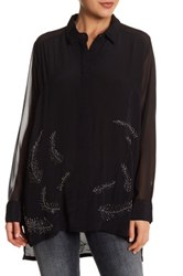 Religion Significant Beaded Blouse Black