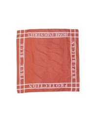 People Square Scarves Brick Red