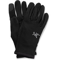 Arc'teryx Rivet Leather Trimmed Jersey Gloves Black