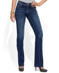 Inc International Concepts Petite Jeans Curvy Fit Bootcut Percy Wash