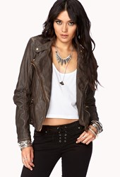 Forever 21 Contemporary Off Duty Faux Leather Moto Jacket