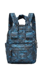Marc Jacobs Camo Nylon Knot Backpack Navy Multi