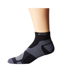 2Xu Training Vectr Sock Black Dark Titanium Men's Crew Cut Socks Shoes