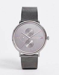 Tommy Hilfiger 1781945 Jenna Mesh Watch In Gunmetal Grey