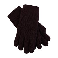 Loro Piana Rougemont Gloves Dark Raisin