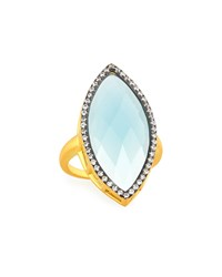 Freida Rothman Aqua Marquise Crystal Cocktail Ring Women's
