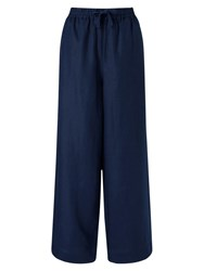 East Linen Wide Leg Trousers Ink