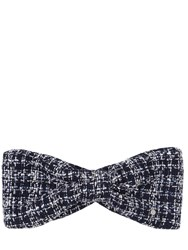 Maison Michel Sybille Tweed Headband Blue