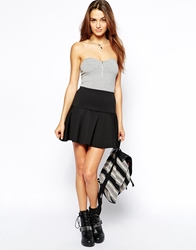 Club L Essentials Trumpet Skirt In Scuba Black
