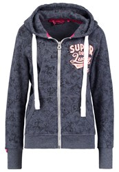Superdry Tracksuit Top Eclipse Navy Marl Dark Blue