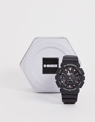 Casio G Shock Digital S Series Black And Rose Gold Accent Watch
