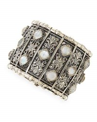 Konstantino Aura Silver And Mother Of Pearl Cuff Bracelet White