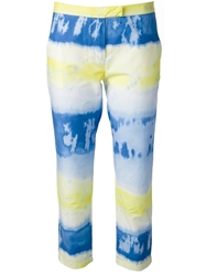 Msgm Tie Dye Effect Trouser Blue