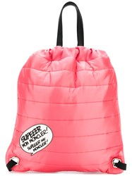 Moncler Quilted Drawstring Backpack Pink And Purple