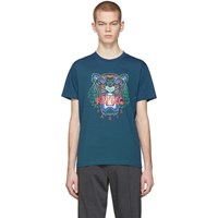 Kenzo Blue Limited Edition Holiday Tiger T Shirt