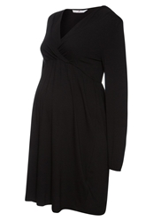 Bellybutton Lina Jersey Dress Stretch Limo Black