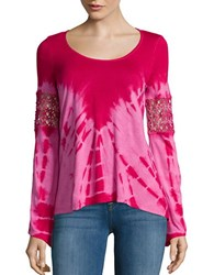 Jessica Simpson Long Sleeve Laurine Top Pink