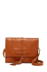 Foley Corinna Bo Leather Convertible Clutch Brown