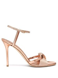 Malone Souliers Terry Metallic And Mirrored Leather Sandals Rose Gold