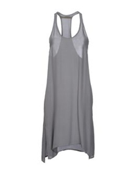 Superfine Knee Length Dresses Grey