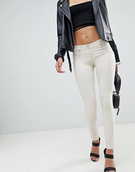 Freddy Shaping Effect Mid Rise Snug Stretch Push Up Jegging White