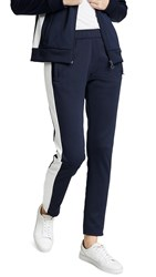 Tory Sport Colorblock Track Pants Tory Navy Snow White