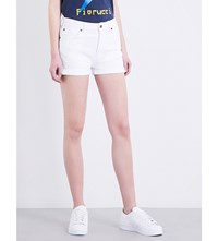 Fiorucci The Patty High Rise Denim Shorts White