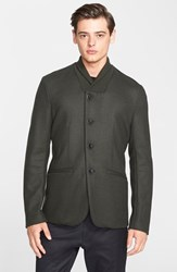 Men's Armani Collezioni Extra Trim Fit Boiled Wool Shawl Collar Jacket