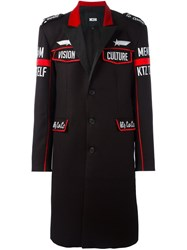Ktz Patched Military Coat Black