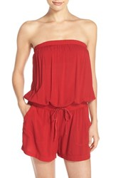 Women's Hard Tail Strapless Shelf Bra Romper