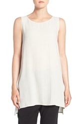 Eileen Fisher Women's Silk Crepe Scoop Neck Sleeveless Tunic