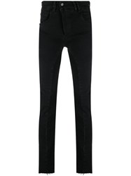 Thom Krom Off Centre Button Trousers Black