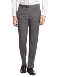 Emporio Armani Charcoal Wool Dress Pants Slate Grey