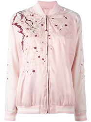 P.A.R.O.S.H. Nyppo Reversible Bomber Jacket Pink Purple