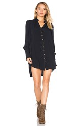 Free People Lieutenant Shirt Dress Navy
